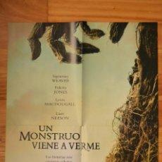 Cine: POSTER O CARTEL DOBLE #129 DE UN MONSTRUO VIENE A VERME Y THE WALKING DEAD. Lote 265173039
