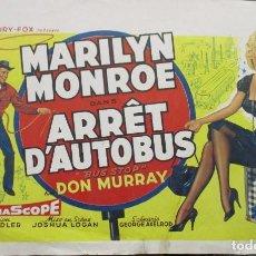 Cinéma: BUS STOP - MARILYN MONROE - DON MURRAY - BELGA - POSTER / CARTEL - 54 X 34. Lote 265214684