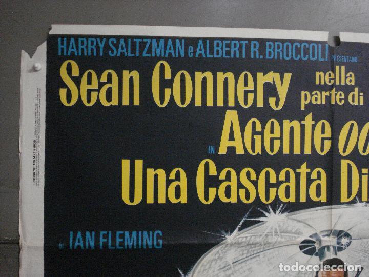 Cine: AAX60 DIAMANTES PARA LA ETERNIDAD JAMES BOND 007 SEAN CONNERY POSTER ORIGINAL 100X140 ITALIANO - Foto 2 - 265335234