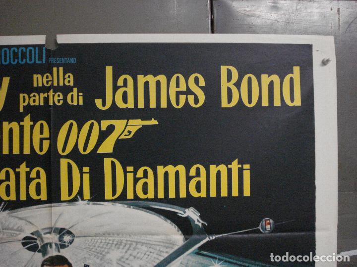 Cine: AAX60 DIAMANTES PARA LA ETERNIDAD JAMES BOND 007 SEAN CONNERY POSTER ORIGINAL 100X140 ITALIANO - Foto 6 - 265335234