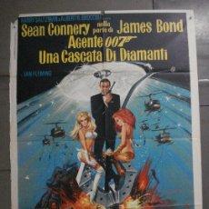Cine: AAX60 DIAMANTES PARA LA ETERNIDAD JAMES BOND 007 SEAN CONNERY POSTER ORIGINAL 100X140 ITALIANO. Lote 265335234