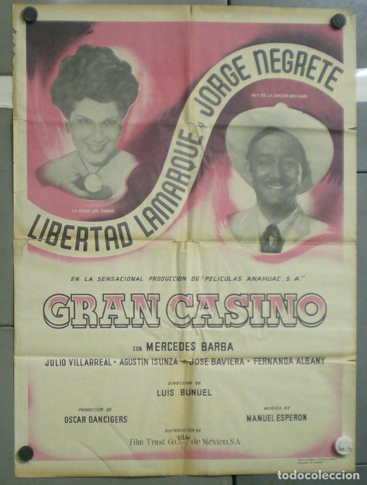 UQ81D GRAN CASINO LUIS BUÑUEL JORGE NEGRETE POSTER ORIGINAL MEJICANO 70X94 (Cine - Posters y Carteles - Musicales)