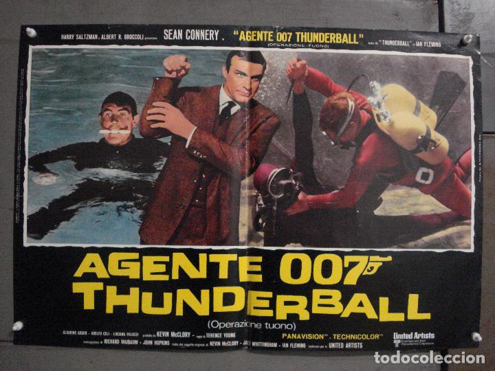 Cine: AAX62 OPERACION TRUENO JAMES BOND 007 SEAN CONNERY SET DE 6 POSTERS ORIGINAL ITALIANO 47X68 - Foto 3 - 265445559