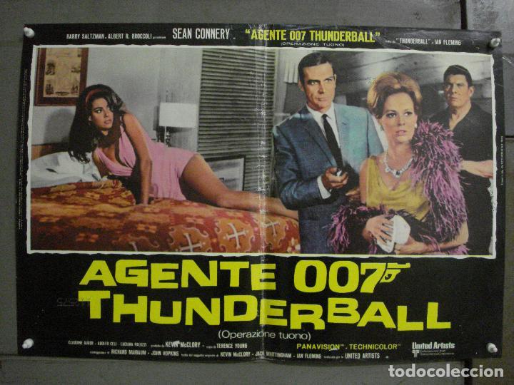 Cine: AAX62 OPERACION TRUENO JAMES BOND 007 SEAN CONNERY SET DE 6 POSTERS ORIGINAL ITALIANO 47X68 - Foto 5 - 265445559