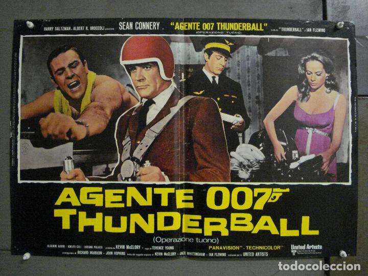 Cine: AAX62 OPERACION TRUENO JAMES BOND 007 SEAN CONNERY SET DE 6 POSTERS ORIGINAL ITALIANO 47X68 - Foto 7 - 265445559