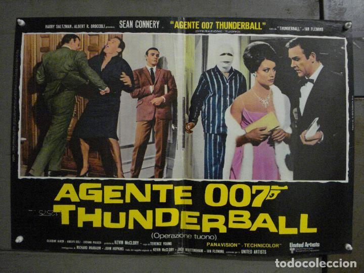 Cine: AAX62 OPERACION TRUENO JAMES BOND 007 SEAN CONNERY SET DE 6 POSTERS ORIGINAL ITALIANO 47X68 - Foto 9 - 265445559
