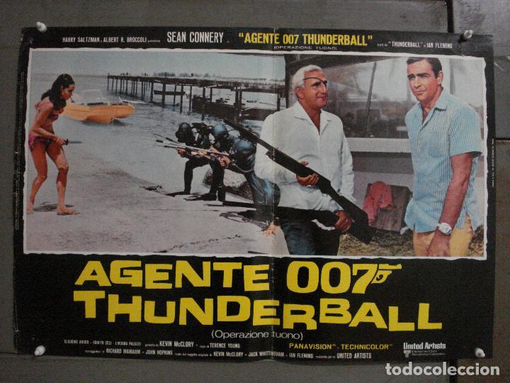 Cine: AAX62 OPERACION TRUENO JAMES BOND 007 SEAN CONNERY SET DE 6 POSTERS ORIGINAL ITALIANO 47X68 - Foto 11 - 265445559