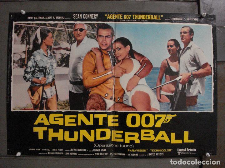 AAX62 OPERACION TRUENO JAMES BOND 007 SEAN CONNERY SET DE 6 POSTERS ORIGINAL ITALIANO 47X68 (Cine - Posters y Carteles - Acción)