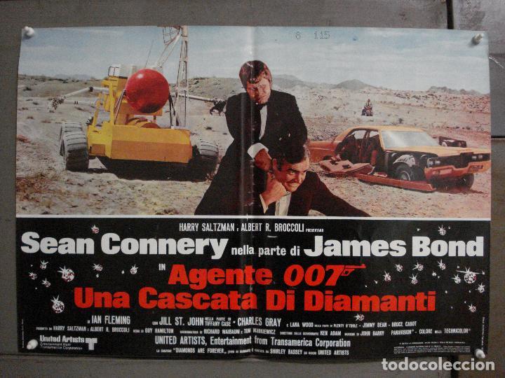 Cine: AAX63 DIAMANTES PARA LA ETERNIDAD JAMES BOND 007 SEAN CONNERY SET 6 POSTERS ORIGINAL ITALIANO 47X68 - Foto 5 - 265446779