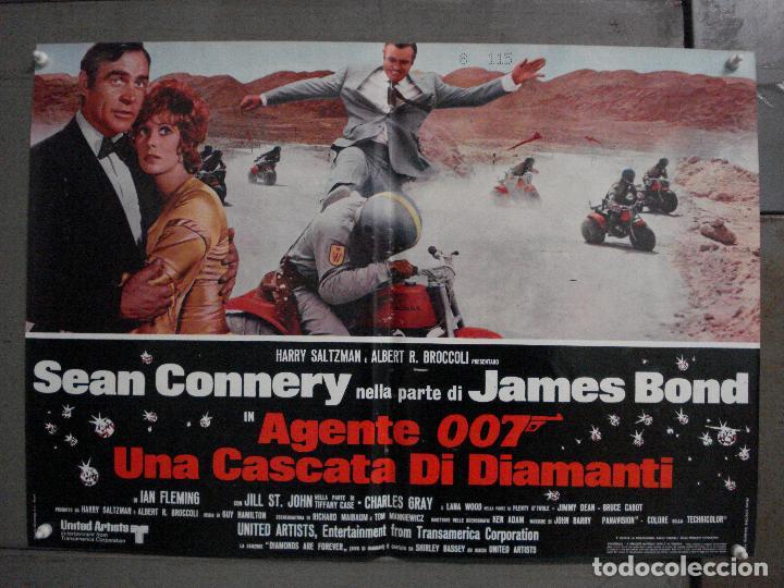 Cine: AAX63 DIAMANTES PARA LA ETERNIDAD JAMES BOND 007 SEAN CONNERY SET 6 POSTERS ORIGINAL ITALIANO 47X68 - Foto 9 - 265446779