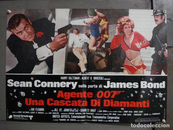 Cine: AAX63 DIAMANTES PARA LA ETERNIDAD JAMES BOND 007 SEAN CONNERY SET 6 POSTERS ORIGINAL ITALIANO 47X68 - Foto 11 - 265446779