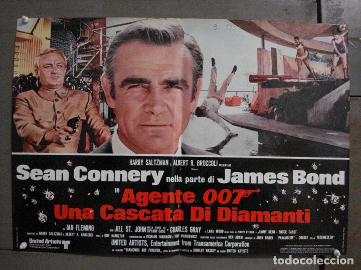 AAX63 DIAMANTES PARA LA ETERNIDAD JAMES BOND 007 SEAN CONNERY SET 6 POSTERS ORIGINAL ITALIANO 47X68 (Cine - Posters y Carteles - Acción)