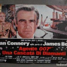 Cine: AAX63 DIAMANTES PARA LA ETERNIDAD JAMES BOND 007 SEAN CONNERY SET 6 POSTERS ORIGINAL ITALIANO 47X68. Lote 265446779