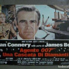 Cine: AAX64 DIAMANTES PARA LA ETERNIDAD JAMES BOND 007 SEAN CONNERY POSTER ORIGINAL ITALIANO 47X68. Lote 265447839