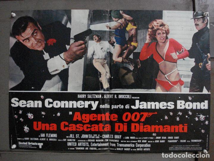 AAX65 DIAMANTES PARA LA ETERNIDAD JAMES BOND 007 SEAN CONNERY POSTER ORIGINAL ITALIANO 47X68 (Cine - Posters y Carteles - Acción)