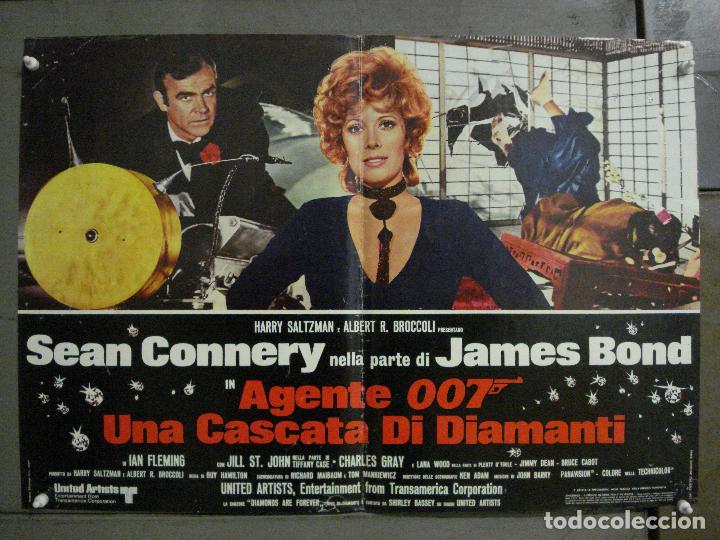 AAX66 DIAMANTES PARA LA ETERNIDAD JAMES BOND 007 SEAN CONNERY POSTER ORIGINAL ITALIANO 47X68 (Cine - Posters y Carteles - Acción)