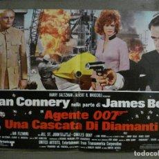 Cine: AAX67 DIAMANTES PARA LA ETERNIDAD JAMES BOND 007 SEAN CONNERY POSTER ORIGINAL ITALIANO 47X68. Lote 265450764