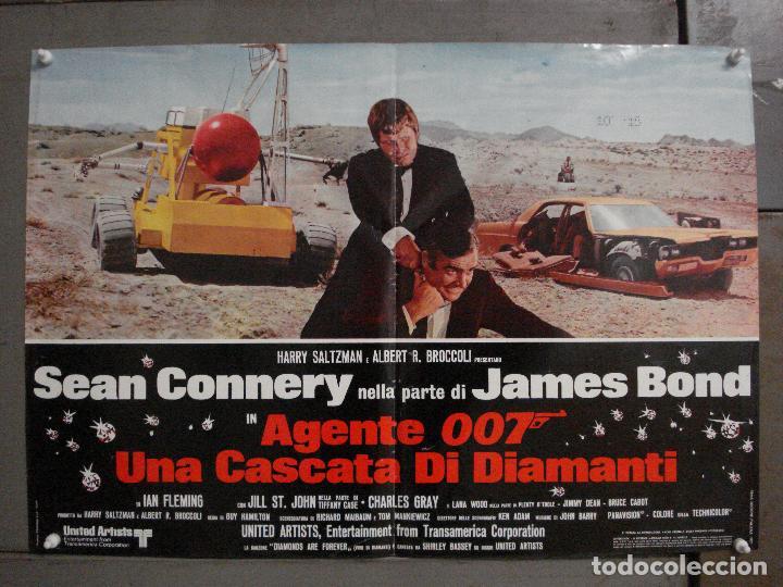 AAX68 DIAMANTES PARA LA ETERNIDAD JAMES BOND 007 SEAN CONNERY POSTER ORIGINAL ITALIANO 47X68 (Cine - Posters y Carteles - Acción)