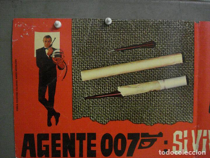 Cine: AAX70 SOLO SE VIVE DOS VECES JAMES BOND 007 SEAN CONNERY POSTER ORIGINAL ITALIANO 47X68 - Foto 2 - 265452709