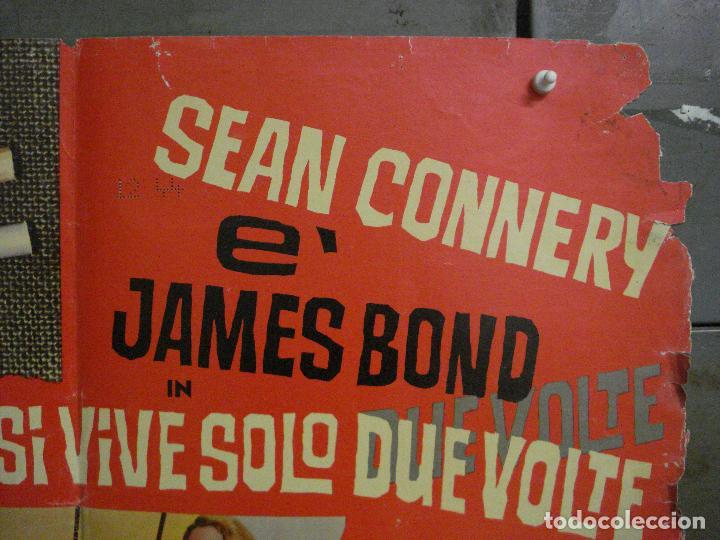 Cine: AAX70 SOLO SE VIVE DOS VECES JAMES BOND 007 SEAN CONNERY POSTER ORIGINAL ITALIANO 47X68 - Foto 4 - 265452709