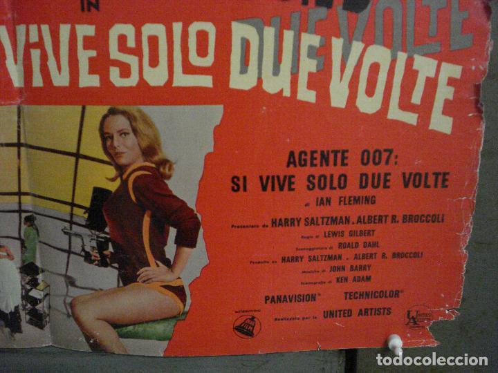 Cine: AAX70 SOLO SE VIVE DOS VECES JAMES BOND 007 SEAN CONNERY POSTER ORIGINAL ITALIANO 47X68 - Foto 5 - 265452709