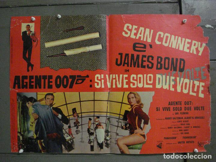 AAX70 SOLO SE VIVE DOS VECES JAMES BOND 007 SEAN CONNERY POSTER ORIGINAL ITALIANO 47X68 (Cine - Posters y Carteles - Acción)