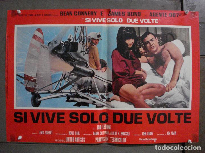 AAX71 SOLO SE VIVE DOS VECES JAMES BOND 007 SEAN CONNERY SET 6 POSTERS ORIGINAL ITALIANO 47X68 (Cine - Posters y Carteles - Acción)