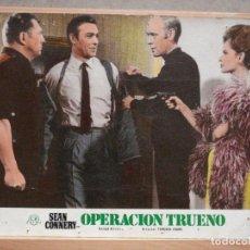 Cine: AAX80 OPERACION TRUENO JAMES BOND 007 SEAN CONNERY FOTOCROMO CARTON ORIGINAL R-76. Lote 265462889