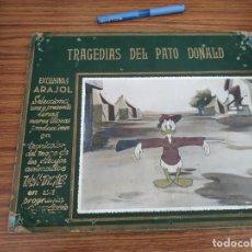 Cine: TRAGEDIAS DEL PATO DONALD - WALT DISNEY - ARAJOL - DIBUJOS ANIMADOS DE PEQUEÑAS CARTELERA. Lote 265469514