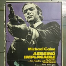 Cine: AAY19 ASESINO IMPLACABLE GET CARTER MICHAEL CAINE MAC POSTER ORIGINAL 70X100 ESTRENO. Lote 265469614