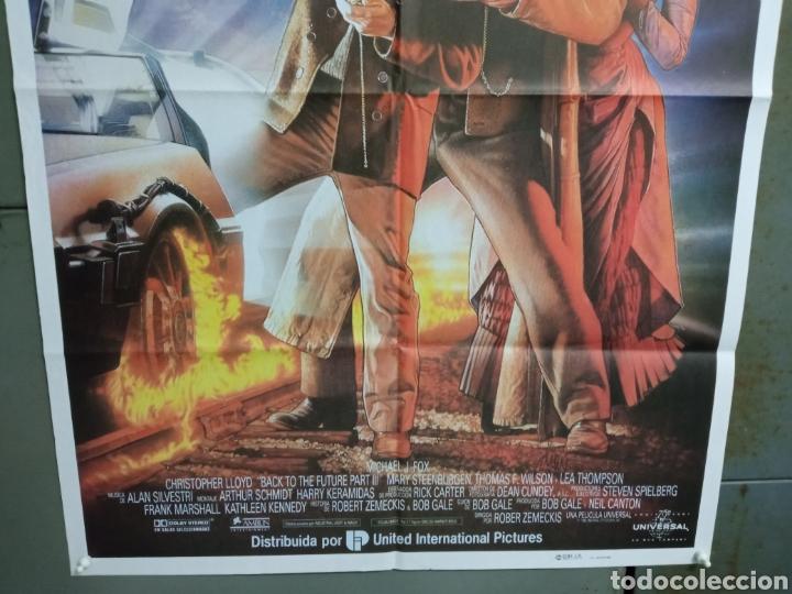 Cine: AAY04 REGRESO AL FUTURO 3 MICHAEL J. FOX ROBERT ZEMECKIS DREW POSTER ORIGINAL 70X100 ESTRENO - Foto 3 - 278272678