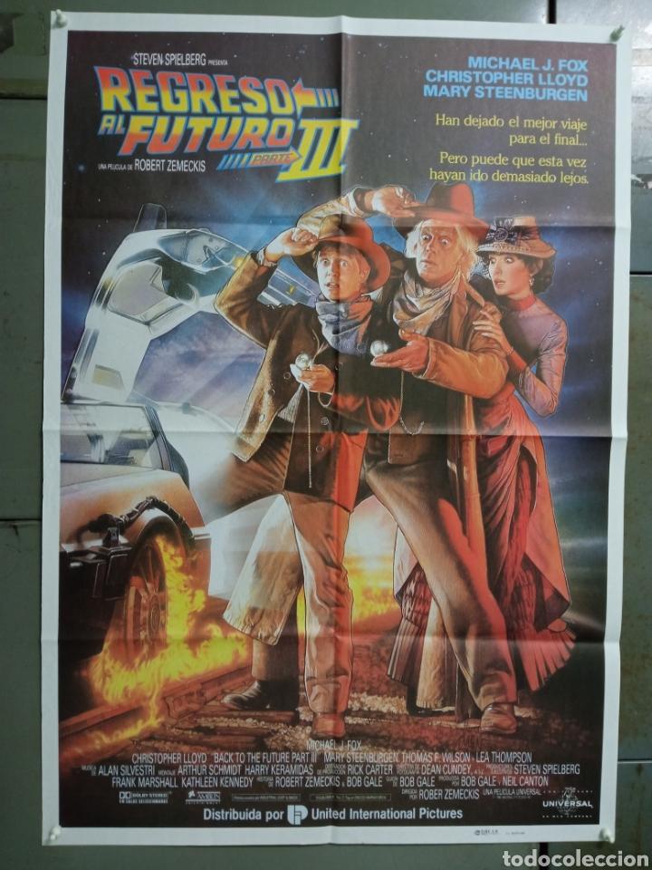 AAY04 REGRESO AL FUTURO 3 MICHAEL J. FOX ROBERT ZEMECKIS DREW POSTER ORIGINAL 70X100 ESTRENO (Cine - Posters y Carteles - Ciencia Ficción)
