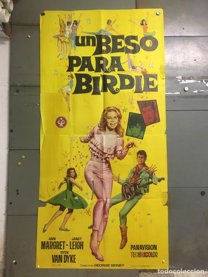 AAX93 UN BESO PARA BIRDIE ANN-MARGRET JANO POSTER ORIGINAL 3 HOJAS 100X205 ESTRENO (Cine - Posters y Carteles - Comedia)