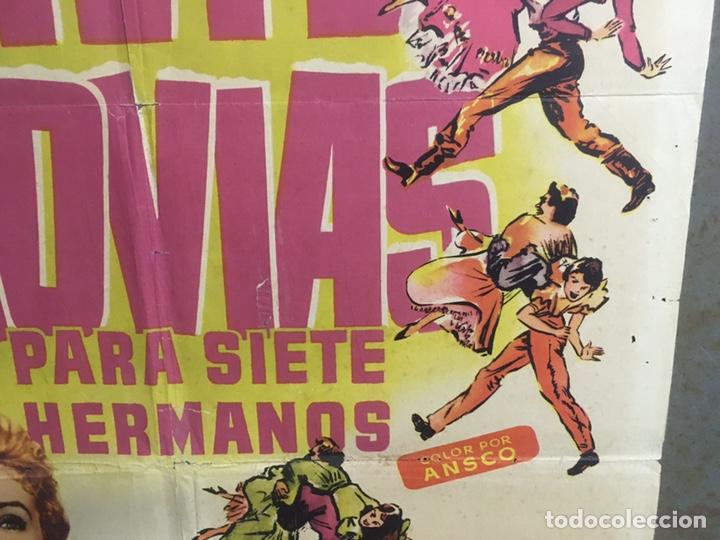 Cine: AAX88 SIETE NOVIAS PARA SIETE HERMANOS STANLEY DONEN CINEMASCOPE POSTER ORIGINAL 70X100 ESTRENO - Foto 8 - 265474209