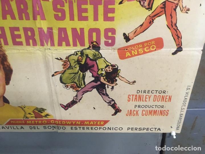 Cine: AAX88 SIETE NOVIAS PARA SIETE HERMANOS STANLEY DONEN CINEMASCOPE POSTER ORIGINAL 70X100 ESTRENO - Foto 9 - 265474209