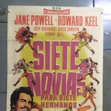 Cine: AAX88 SIETE NOVIAS PARA SIETE HERMANOS STANLEY DONEN CINEMASCOPE POSTER ORIGINAL 70X100 ESTRENO. Lote 265474209