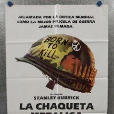 Cinéma: LA CHAQUETA METALICA, STANLEY KUBRICK, MATTHEW MODINE. AÑO 1987. POSTER ORIGINAL. Lote 265499079