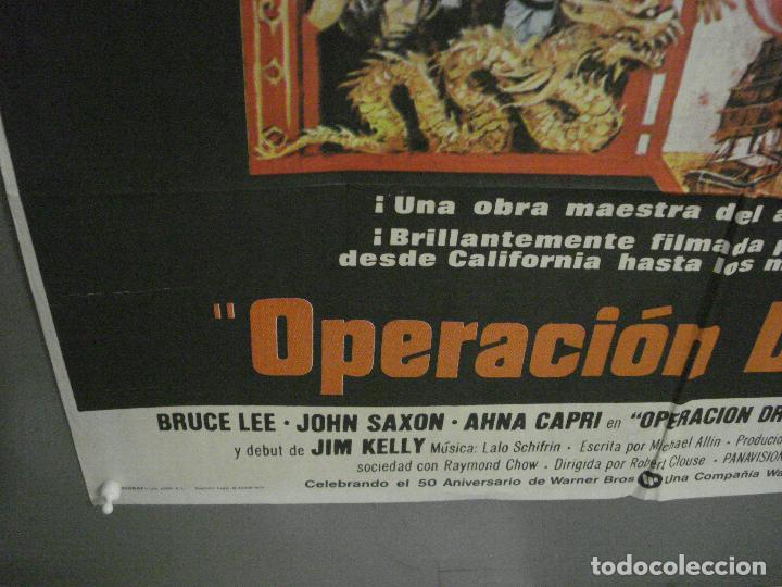 Cine: AAY33 OPERACION DRAGON BRUCE LEE BOB PEAK POSTER ORIGINAL 70X100 ESTRENO raro - Foto 5 - 265509864