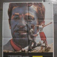 Cine: AAY34 PIERROT LE FOU EL LOCO JEAN LUC GODARD JEAN PAUL BELMONDO POSTER ORIGINAL 70X100 ESPAÑOL. Lote 265510549