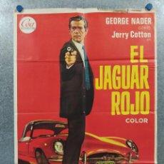 Cinéma: EL JAGUAR ROJO. GEORGE NADER, HEINZ WEISS, DANIELA SURINA. AÑO 1970. POSTER ORIGINAL. Lote 265512644
