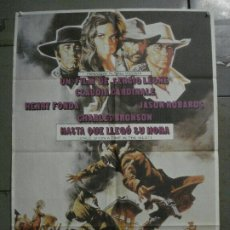 Cinéma: AAY40 HASTA QUE LLEGO SU HORA SERGIO LEONE POSTER ORIGINAL 70X100 ESPAÑOL R-81. Lote 265517059