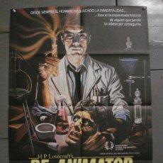 Cine: AAY50 RE-ANIMATOR STUART GORDON H.P. LOVECRAFT POSTER ORIGINAL 70X100 ESTRENO. Lote 265533784