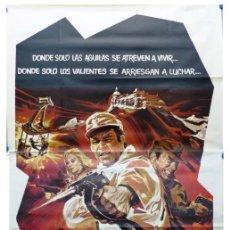 Cine: EL DESAFIO DE LAS AGUILAS, RICHARD BURTON, CLINT EASTWOOD - AÑO 1969 - CARTEL GRANDE EN TRES PIEZAS. Lote 265737949