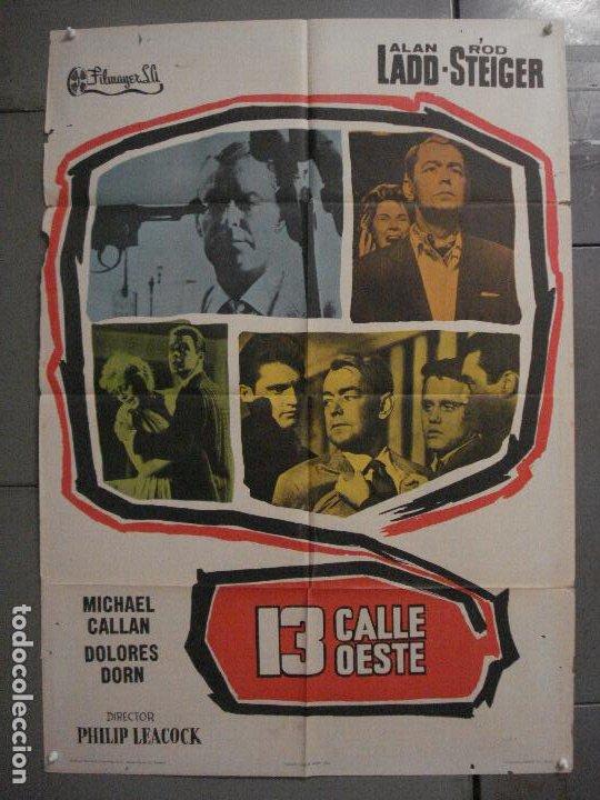CDO K942 13 CALLE OESTE ALAN LADD POSTER ORIGINAL 70X100 ESTRENO (Cine - Posters y Carteles - Acción)