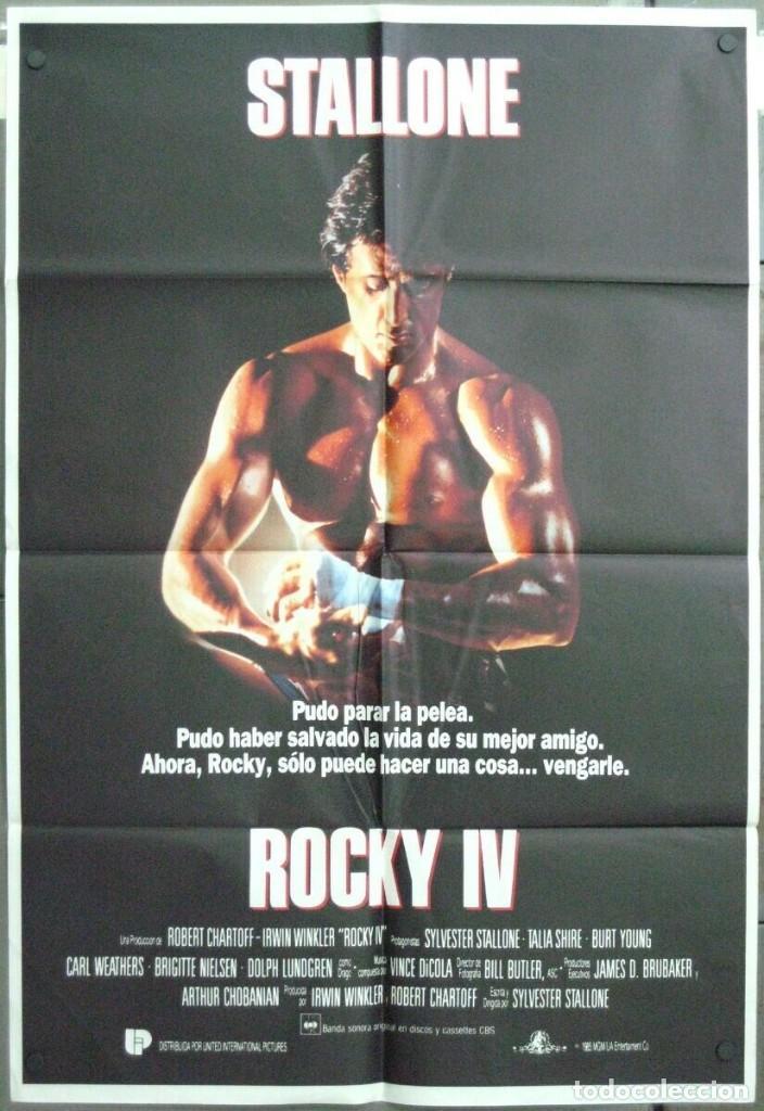 VH61D ROCKY 4 SYLVESTER STALLONE DOLPH LUNDGREN POSTER ORIGINAL 70X100 ESTRENO (Cine - Posters y Carteles - Deportes)
