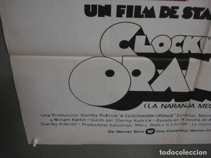 Cine: CDO K951 LA NARANJA MECANICA STANLEY KUBRICK POSTER ORIGINAL 70X100 ESPAÑOL 1978 - Foto 5 - 265751194