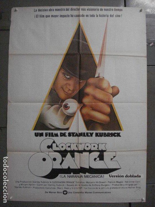 CDO K951 LA NARANJA MECANICA STANLEY KUBRICK POSTER ORIGINAL 70X100 ESPAÑOL 1978 (Cine - Posters y Carteles - Ciencia Ficción)