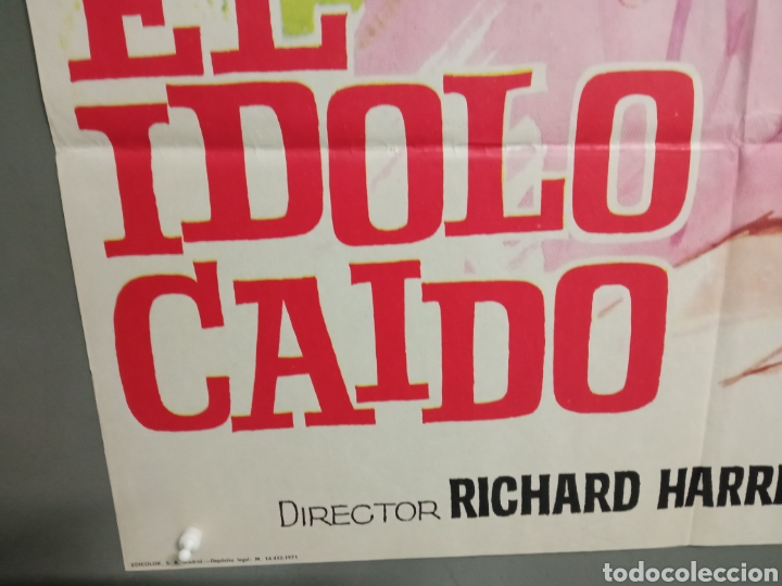 Cine: CDO K974 EL IDOLO CAIDO ROMY SCHNEIDER FUTBOL POSTER ORIGINAL 70X100 ESTRENO - Foto 5 - 265756469