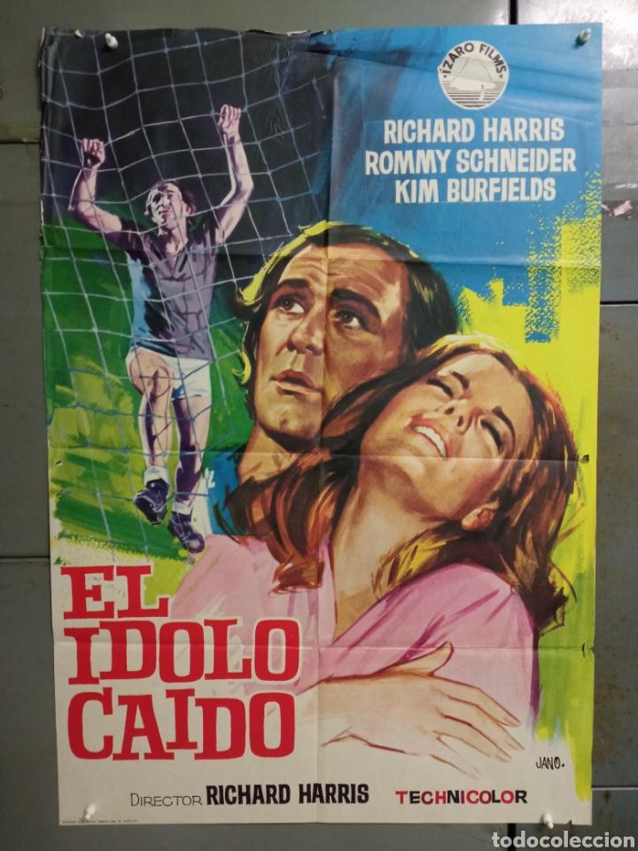 CDO K974 EL IDOLO CAIDO ROMY SCHNEIDER FUTBOL POSTER ORIGINAL 70X100 ESTRENO (Cine - Posters y Carteles - Deportes)