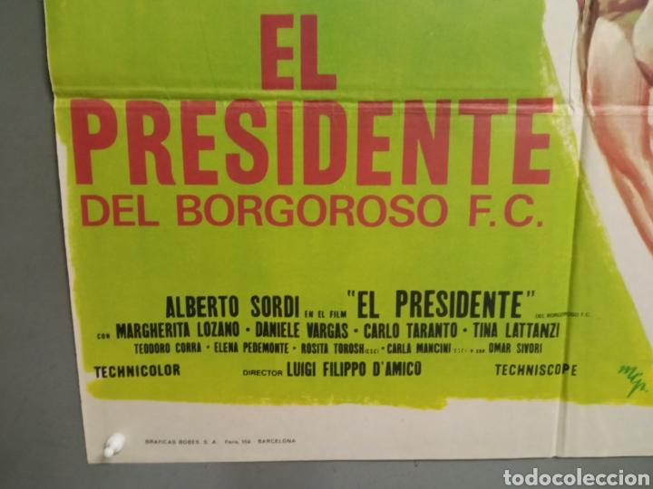 Cine: CDO K968 EL PRESIDENTE DEL BORGOROSO ALBERTO SORDI FUTBOL POSTER ORIGINAL 70X100 ESTRENO - Foto 4 - 265757339